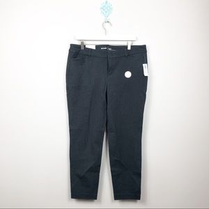 Old Navy Dark Grey Pixie Ankle Pants Sz 14 NWT